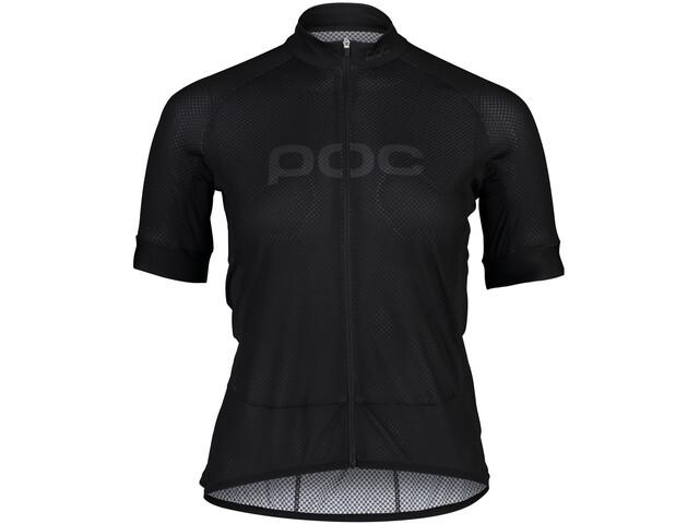 POC Essential Road Logo Kurzarm Trikot Damen uranium black/uranium black